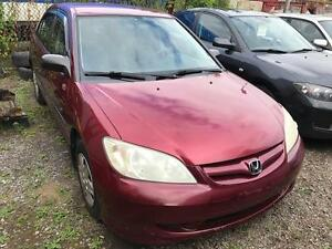 2005 Honda Berline Civic,auto,air,GARANTIE 1 ANS GRATUITE