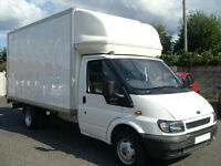 MAN AND VAN, HOUSE REMOVALS, REMOVAL SERVICES, LUTON VAN WITH TAIL LIFT-HIRE.