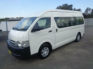 2009 Toyota HiAce KDH223R MY07 Upgrade Commuter White 5 Speed Manual Bus Sandgate Newcastle Area Preview