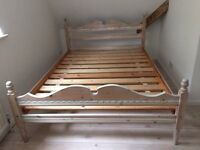 Limed Wood Double BedFrame