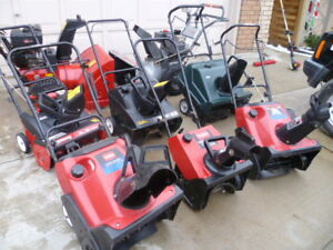 10 -SNOW BLOWERS FOR SALE  ((( TUNED UP )))