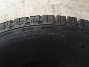 WILD COUNTRY XTX RADIAL TIRES, SET OF 4  NEARLY NEW, 245/75R16