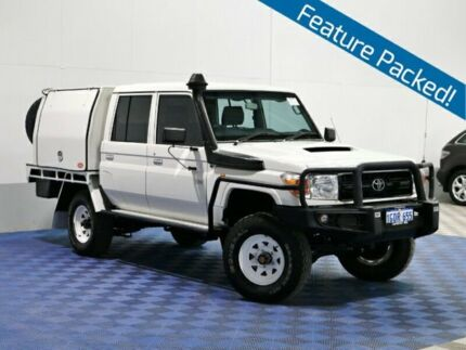 2012 Toyota Landcruiser VDJ79R MY12 Update Workmate (4x4) White 5 Speed Manual Double C/Chas Jandakot Cockburn Area Preview