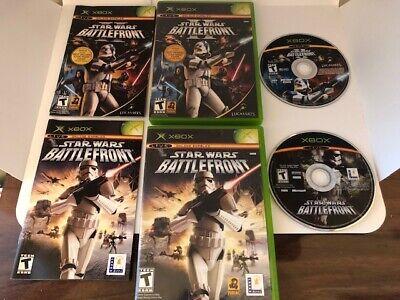 Star Wars Battlefront 1 + 2 Lot XBOX Games Complete Great Shape
