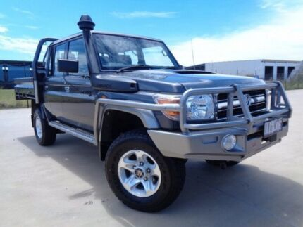 2015 Toyota Landcruiser VDJ79R GXL Double Cab Grey 5 Speed Manual Cab Chassis