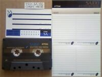 A2Z VERY RARE TDK SA 100 1992-1995 CHROME CASSETTE TAPES WITH CARDS CASES LABELS