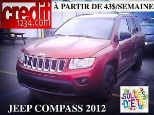 2012 Jeep Compass Sport, À PARTIR DE 43$/semaine 100% approuvé !