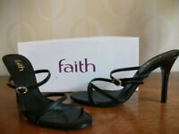 FAITH Ladies Shoes, Size 4, Black - NEW & BOXED