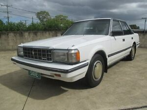 1984 Toyota Crown MS123 Crown Royal Super White 4 Speed Automatic Sedan Birkdale Redland Area Preview