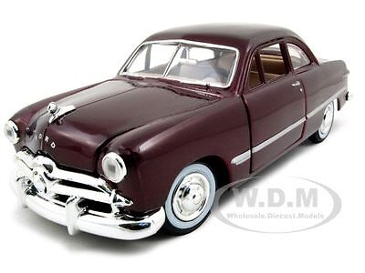 1949 FORD COUPE BURGUNDY 1:24 DIECAST MODEL CAR BY MOTORMAX 73213