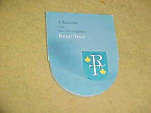 SOUVENIR SILVER DOLLAR from ROYAL TRUST