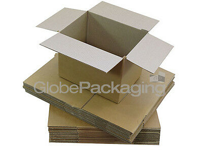 10 x HIGH GRADE SINGLE WALL CARDBOARD POSTAL MAILING SHIPPING BOXES 18x12x12