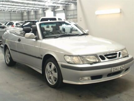2001 Saab 9-3 MY01 S Silver 4 Speed Automatic Convertible