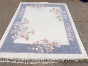 """Pure Wool Area Rug in Like New Condition!  100""""L x 79""""W"""