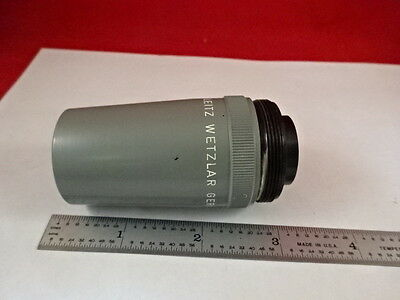Microscope Part Leitz Wetzlar Germany 51 Objective Lens Optics As Is Bad-12