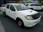 2008 T/D Toyota Hilux Dual Cab Flat Tray Ute New Town Hobart City Preview