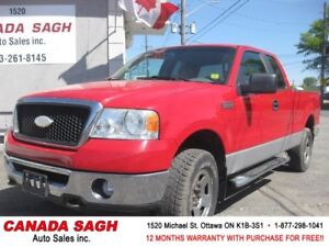 2007 Ford F-150 XLT, 5.4 TRITON, 12 M WRTY+SAFETY, ONLY $9990!!