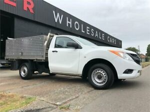 2013 Mazda BT-50 UP0YF1 XT 4x2 Hi-Rider White 6 Speed Manual Cab Chassis