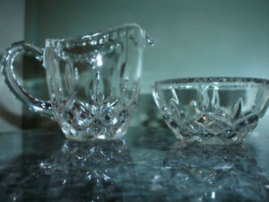 VINTAGE CREAM AND SUGAR SET GLASS NEVER USED