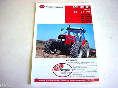 Massey Ferguson 4200 Farm Tractor 2000 4 Pages Brochure