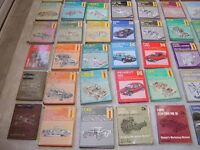 60 + workshop manuals various condition mostly haynes
