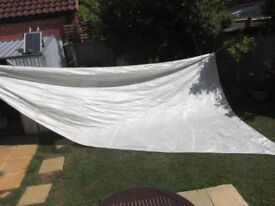 A Used White matched main sail and Gib/foresail