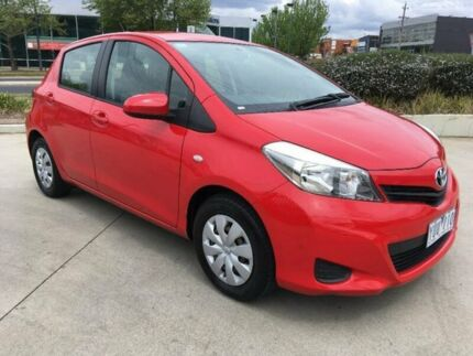 2011 Toyota Yaris NCP130R YR Red 4 Speed Automatic Hatchback Fyshwick South Canberra Preview