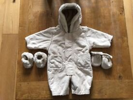 Pram Snow Suit, Mothercare, 3-6 months
