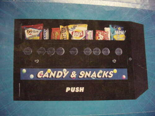 NIB Mechanical Tabletop Compact Snack Vending Machine 1-tier 9-item