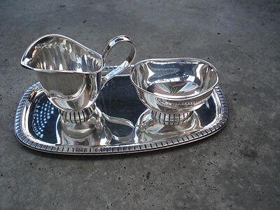 WTB Milch-Zucker Set 925 Sterling Silber Milchkännchen Zuckertopf Wilhelm Binder