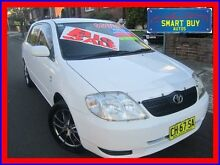 2002 Toyota Corolla ZZE122R Conquest Seca White 5 Speed Manual Hatchback Canada Bay Canada Bay Area Preview