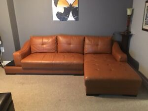 Sectional Sofa and Wing Chair