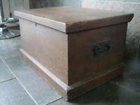 blanket box-sea chest-toy box-tool box-coffee table-side table 64W X 45W X 35H