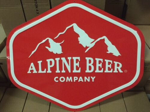 """Alpine Beer Company Metal/Tin Sign, Approx 20"""" X 17"""" (NEW)"""