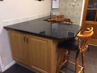 Used large oak kitchen and breakfast bar in good condition.