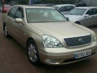 LEXUS LS430 SAT NAV LEATHER ALLOYS 12 MONTHS MOT SERVICE HISTORY