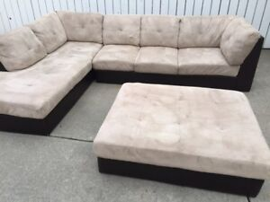 Sectional with ottoman  can deliver