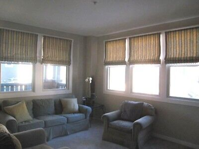 CUSTOM FLAT ROMAN SHADES TO BE MADE IN YOUR FABRIC, UP TO 40W X 60L NEW