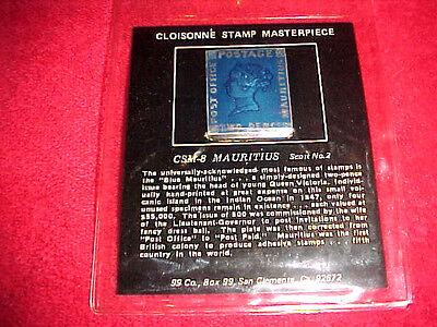 99 COMPANY Cloisonne Stamp Masterpiece CSM-8 US MAURITIUS Scott No.2 Fine Silver