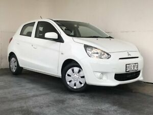 2015 Mitsubishi Mirage LA MY15 ES White 5 Speed Manual Hatchback Mount Gambier Grant Area Preview