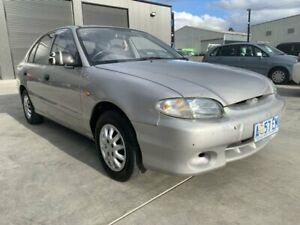 1999 Hyundai Excel X3 GLX Silver 5 Speed Manual Hatchback Mowbray Launceston Area Preview