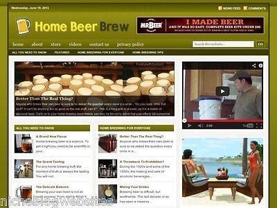 Home Brew   Beer Making Niche Wordpress Blog Website For Sale
