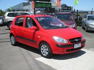 2009 Hyundai Getz TB MY09 SX Red 4 Speed Automatic Hatchback Hoppers Crossing Wyndham Area Preview