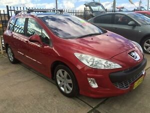 2011 Peugeot 308 T7 XSE Turbo Red 4 Speed Automatic Wagon Queanbeyan Area Preview