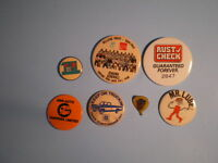 collector pin bottons oshawa flavour 7 all together