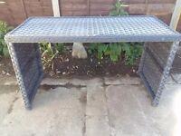 Grey rattan bar/garden table