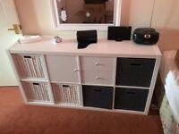 White Storage Unit / Bookcase / Cube shelving