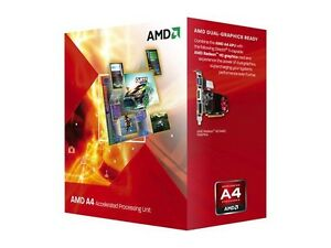 AMD A4-3400 Llano Dual-Core 2.7 GHz Socket FM1 65W Desktop CPU