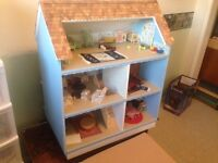 Beautiful Collector Dollhouse with Furniture For Sale