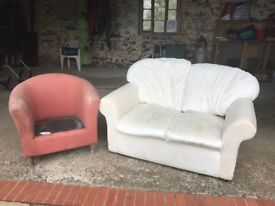 2 Seat Sofa & Armchair £40 FREE DELIVERY